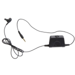 Milicom In-Ear Mic PTT Headsets 1 wire BK