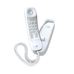 Uniden Slimline Corded Phone (White) - 1100