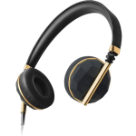 Caeden Linea N??1 On-Ear Headphone For iOS and Android - Faceted Carbon & Gold