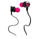 Monster  LLC Clarity HD In-Ear Headphones in Neon Pink