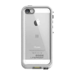 Lifeproof Nuud Waterproof Case for Apple iPhone 5/5S (White/Clear)