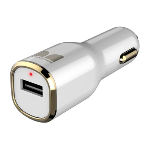 Monster Car Charger MAX 1 w/Single USB White/Gold