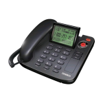 Uniden Desktop Corded Telephone One Phone (Black)