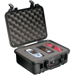 Pelican Products Protector. case. Blk 12 x 9 1/16 x 5 3/16 inches.