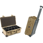 Pelican Products 1510 Case w/Padded Dividers DESERT TAN