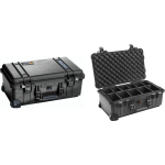 Pelican Products Wheeled Case w/ Padded Dividers Black