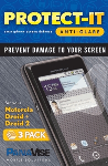 PanaVise Protect-It Anti-Glare Screen Protector (3 Pack) for Motorola Droid & Droid 2