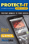 PanaVise Protect-It Anti-Glare Screen Protector (3 Pack) for Motorola Droid X
