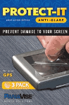 PanaVise Protect-It Anti-Glare 4.5 X 3 GPS Screen Protector (3 Pack)