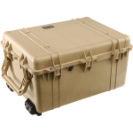 Pelican Products Case with Padded Dividers:TAN 27.70 x 20.98 x 5.50