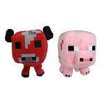 MINECRAFT - Minecraft Mooshroom & Pig Plush Assortment