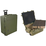 Pelican Products Equipment Case with Padded Dividers; OD Green