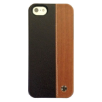 Trexta Wood and Leather Series Snap-On Leather Case for iPhone 5/5s - Duo Wood