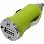 WireX17 USB Car Charger 1AMP - Universal - Green