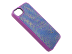 GB36516 - Griffin Technology Violet Dobby Dot Fabric Layered Hard Shell Case for iPhone 5
