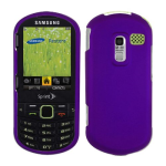 Evercell Rubberized Purple Snap-On Shield for Samsung Restore M570, R580 (Purple)