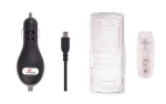 Clear Snap On Case & Mini USB Car Charger for Motorola VE240