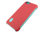 Dual Layer Protective Case for iPhone 6 Plus Red/Light Blue