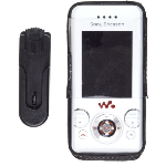 Wireless Solutions Swivel Clip Leather Case for Sony Ericsson W580i