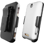 Beyond 3-In-1 Shield and Holster Set for ZTE X500 Score/X500 M Score M - White