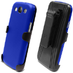 Beyond 3-In-1 Shield and Holster Set for Samsung Galaxy S III - Blue