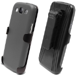 Beyond 3-In-1 Shield and Holster Set for Samsung Galaxy S III - Gray