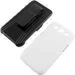 Beyond 3-In-1 Shield and Holster Set for Samsung Galaxy S III - White