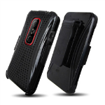 Wireless Mobile 3-In-1 XMatrix and Holster Set for HTC EVO 4G - Black