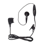 Wireless Solution - Pop Port Earbud Headset for Nokia 6682, 6101, 6102, 9300, 6282, 6126 - Black