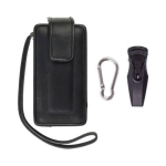 Unicel Starter Kit - Leather Case with Swivel Belt Clip/Mini USB Car Charger for Motorola ROKR E8 (Black)