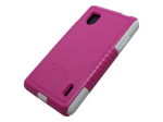 Commuter Series Case for LG Optimus G Pink/White
