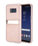 Original Michael Kors Saffiano Phone Case for Samsung Galaxy S8+ - Rose Gold