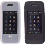 Wireless Solutions Premium Gel Case for LG VX10000 (2 Pack) - Black/White