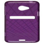 Ventev Waffle Dura-Gel Case for HTC EVO 4G LTE (Purple) - 349344