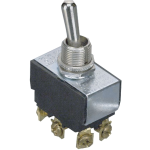 GC/Waldom - Toggle Switch, DPDT, Heavy Duty - 1 each