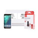 Google Pixel XL Power & Screen Protector Bundle - 48 Verizon USB-C Vehicle Chargers & Tempered Glass Screen Protectors