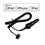 APPLE IPHONE 3G / IPHONE 3GS / IPHONE 4 / IPHONE 4S CAR CHARGER *WORKS WITH IPAD* - APPLE CERTIFIED - RETAIL PACKAGED