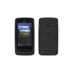 Soft Touch Case for LG Rumor Touch / Banter Touch LN510 - Black