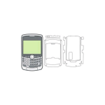 BodyGuardz Screen Protector for Blackberry Curve 8330, 8320, 8310 - 2 Pack