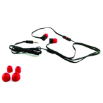 HTC Tangle Free Flat Cable 3.5mm Stereo Headset with Microphone & Call Answer/End Button - Red/Black