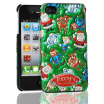 3D Luxe Cover, Rudolph & Friends for iPhone4/4S
