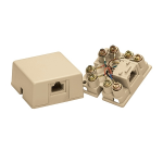 Leviton Voice & Data - Surface-Mount Modular Male, 8 pos 8 cond, Ivory
