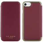Ted Baker Cases Leather Folio w/Mirror Apple iPhone 7 Oxblood