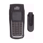 Wireless Solutions Premium Leather Case with Swivel Belt Clip for Nokia 6230 (Black)