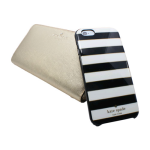 Universal Zip Wristlet and Hybrid Hardshell Case for iPhone 6/6S Black/Gold Set