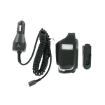 Wireless Solutions Bundle - Leather Case & Car Charger for Motorola V195,V197