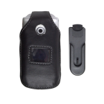 Swivel Clip Leather Case for Sony Ericsson W300 Z530 - Black