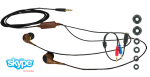 iGo DETROIT 3.5mm Stereo Ear Buds with Adapters - Brown / Gold