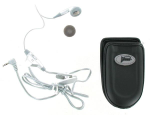 nTelos Universal Mini Pouch with Clip & 2.5mm Platinum Earbud Combo Kit