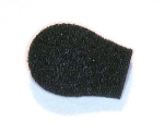 OEM Motorola 5080548E02 Replacement Windscreen for Headset Boom Microphone-Black